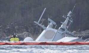 Norweski Helge Ingstad znajduje się już całkowicie pod wodą