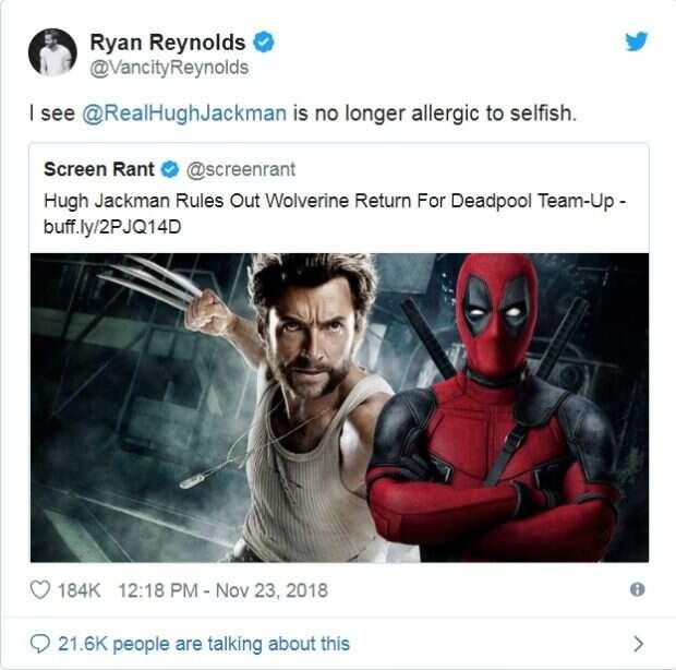 Ryan Reynolds komentuje stanowisko Jackmana