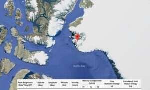 Meteoryt, który eksplodował nad Grenlandią, został zauważony przez sejsmografy