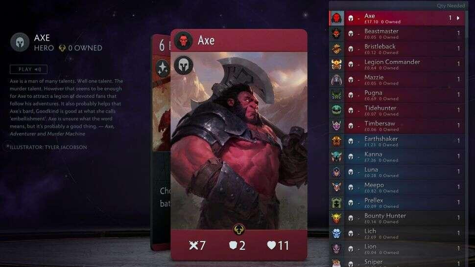 Jedna karta z Artifact jest droższa od samej gry