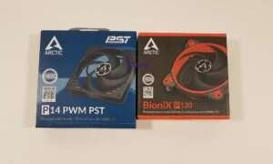 Test wentylatorów Arctic BioniX P120 i P14 PWM PST