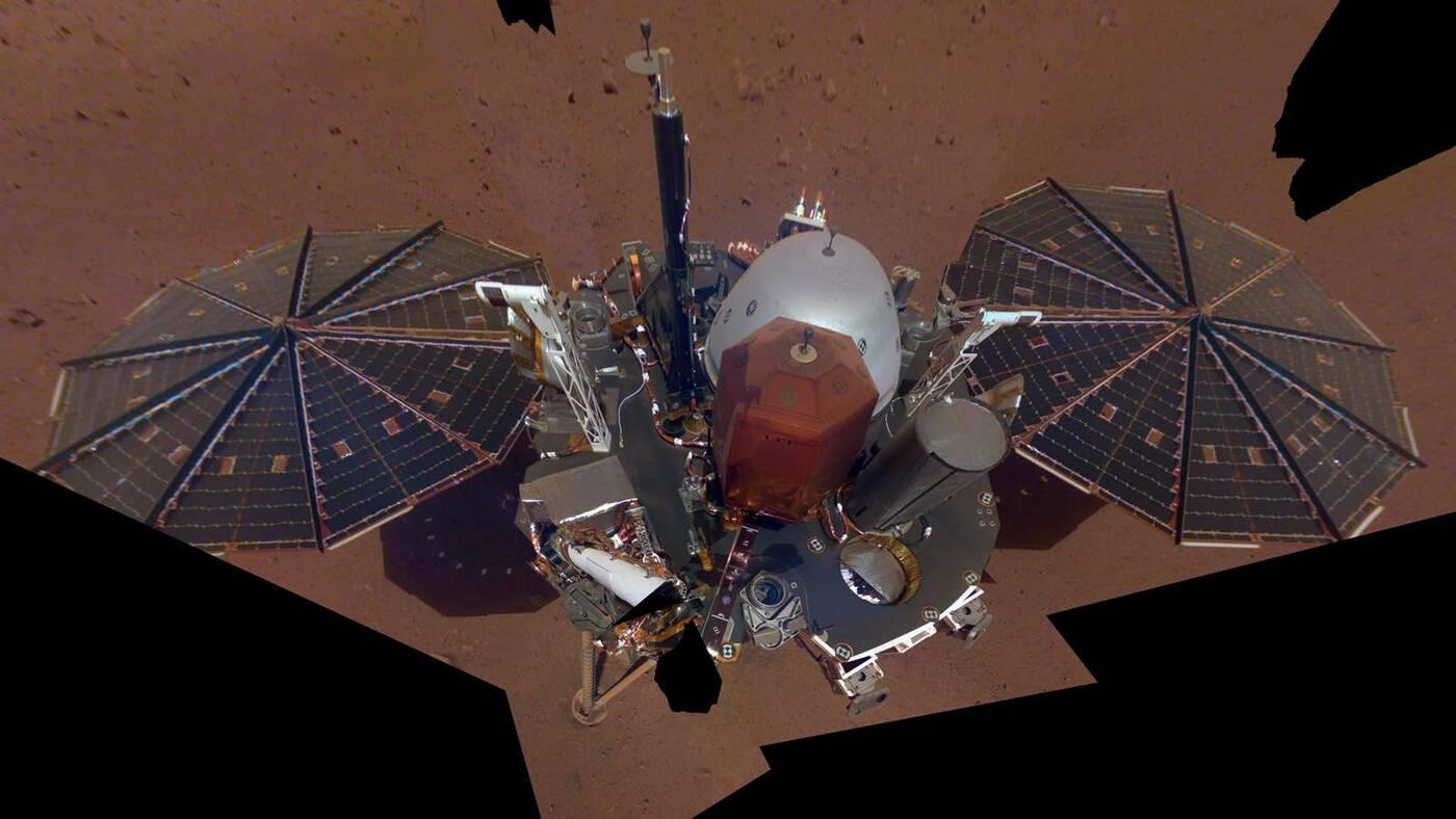 InSight, mars InSight, lądownik InSight, selfie InSight, zdjęcie InSight