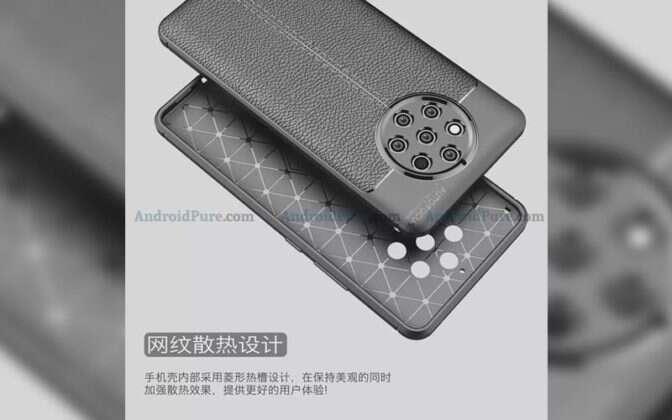 Nokia 9, render Nokia 9, wygląd Nokia 9, aparaty Nokia 9, etui Nokia 9,