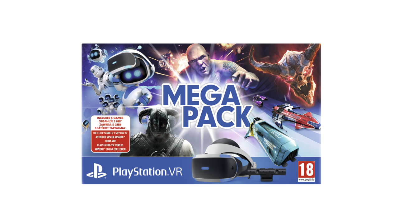 PlayStation VR, PlayStation VR mega pack, PlayStation VR starter pack, zestawy PlayStation VR