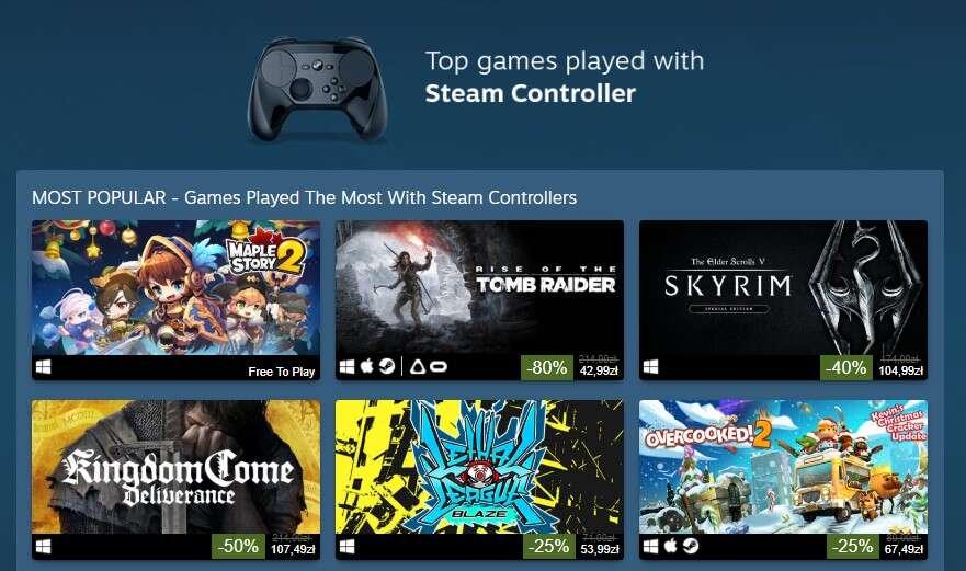 Steam przygotował listę najlepszych gier pod kontrolery w 2018 roku