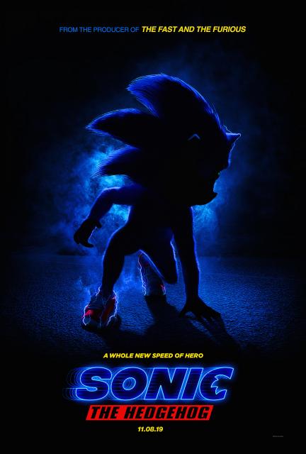 Pierwszy plakat filmu Sonic The Hedgehog