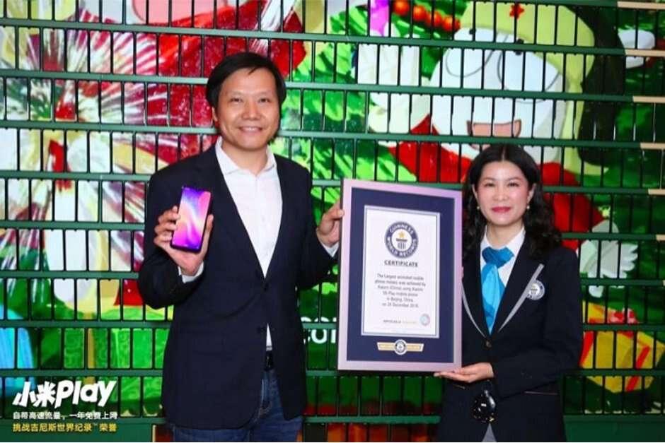 Xiaomi, rekord guinessa Xiaomi, dynamiczny wyświetlacz Xiaomi, Xiaomi mi play,