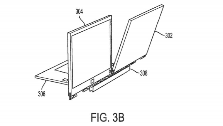 Dell, patent Dell, laptop Dell, dwa ekrany Dell, dwa wyświetlacze Dell,
