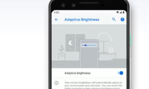 Zmiana w adaptacyjnej jasności w Androidzie 9 Pie