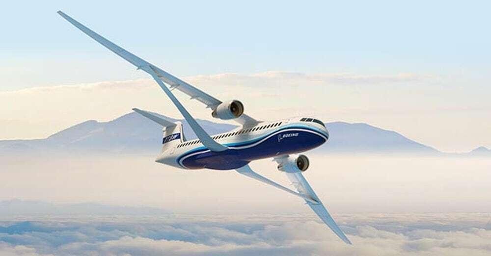 Boeing przedstawił koncepcję skrzydła w samolotach przydźwiękowych