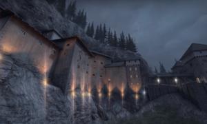 De_castle z CSGO porównane z prawdziwym zamkiem