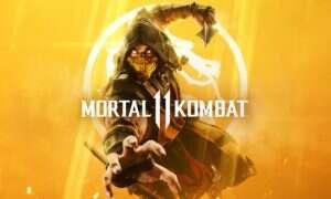 Scorpion pręży się na okładce pudełka Mortal Kombat 11