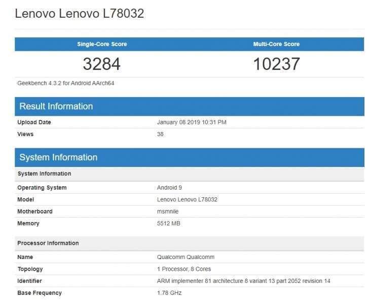 Lenovo Z5 Pro GT, benchmark Lenovo Z5 Pro GT, geekbench Lenovo Z5 Pro GT, wydajność Lenovo Z5 Pro GT,