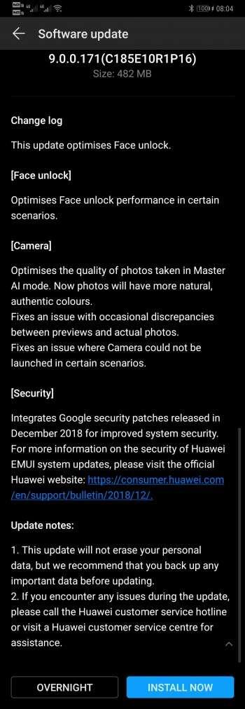 Huawei Mate 20 Pro, oprogramowanie Huawei Mate 20 Pro, aktualizacja Huawei Mate 20 Pro, aparat Huawei Mate 20 Pro, face unlock Huawei Mate 20 Pro