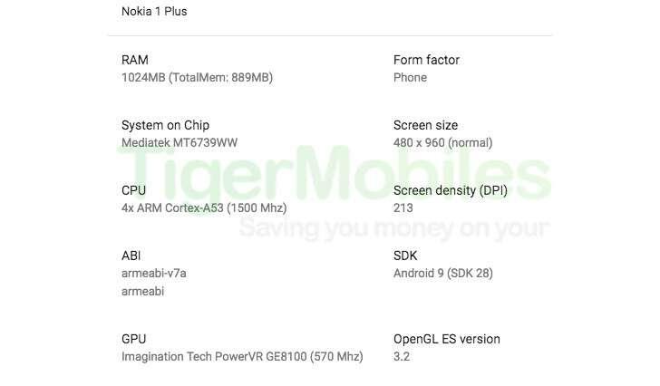 Nokia 1 Plus, render Nokia 1 Plus, wygląd Nokia 1 Plus, specyfikacja Nokia 1 Plus, parametry Nokia 1 Plus,