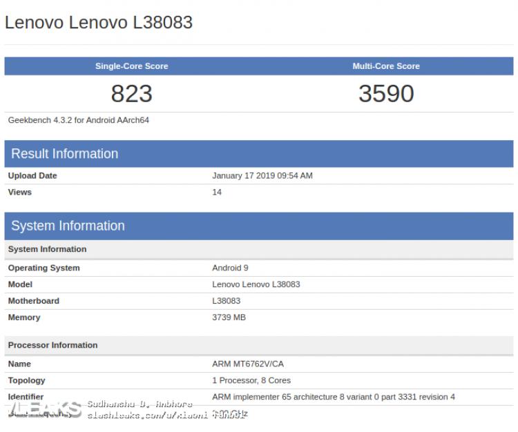 Lenovo, helio p22 Lenovo, geekbench helio p22 Lenovo, L38083, L38083 Lenovo,
