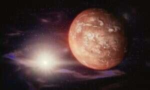 Kosmiczna skała pozostawiła znak na powierzchni Marsa