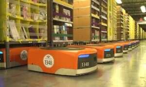 Specjalne kamizelki chronią pracowników Amazona przed robotami