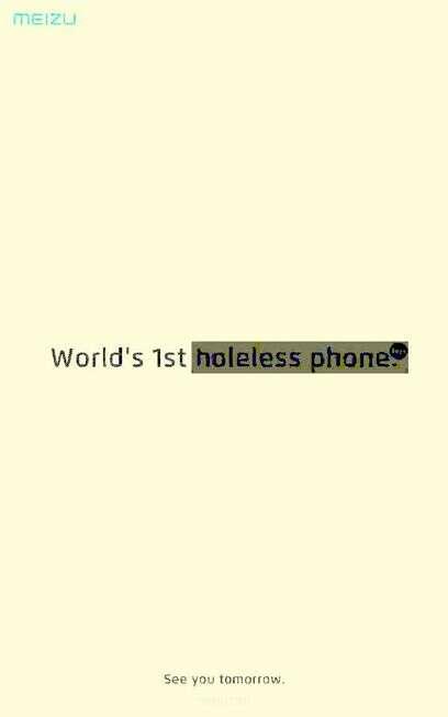 Meizu, smartfon bez otworów, brak otworów Meizu, ładowanie bezprzewodowe Meizu