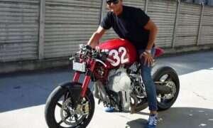 Włoski motocykl Nembo 32 z odwróconym do góry nogami silnikiem