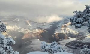 Jak wygląda Wielki Kanion Kolorado po opadach śniegu?