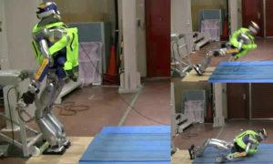 Poduszki powietrzne mogą chronić humanoidalne roboty przed obrażeniami
