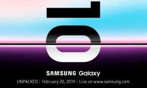 Zdjęcie wszystkich trzech wariantów Galaxy S10