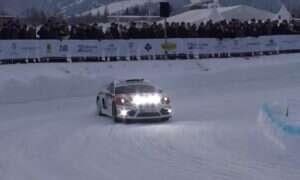 Prototyp Porsche Cayman 718 GT4 Clubsport Rallye przetestowany na lodzie