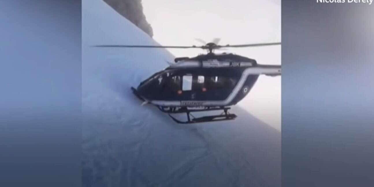 Misja ratunkowa w Aplach wymagała od pilota helikoptera wykonania niecodziennego manewru