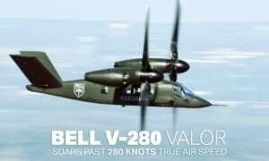 Tiltrotor Bell V-280 Valor zawdzięcza swoją nazwę prędkości, jaką osiągnął