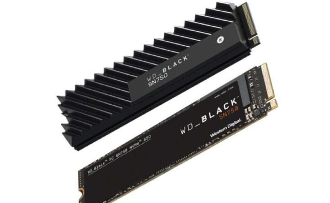WD Black SN750 z potężnym fabrycznym radiatorem