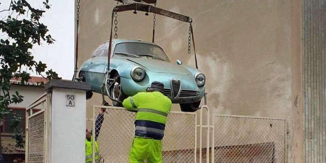 Ten egzemplarz Alfa Romeo Giulietta Sprint Zagato z 1962 odkryto w jednej z piwnic