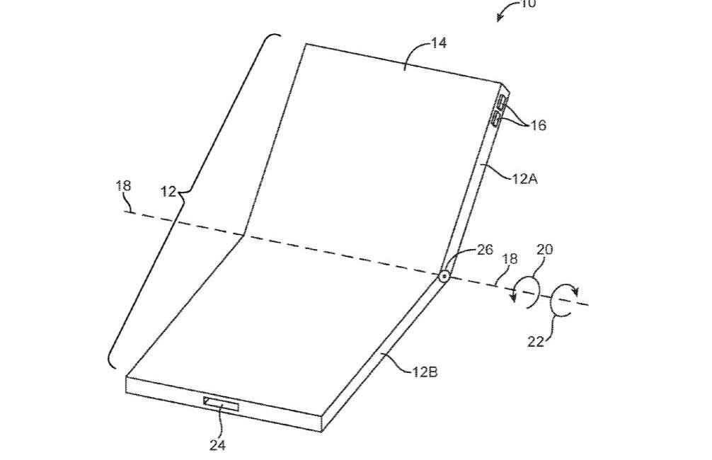 Apple, składany smartfon Apple, elastyczny ekran apple, zginany smartfon apple