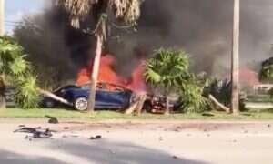 Kierowca Tesla Model S zginął w płomieniach