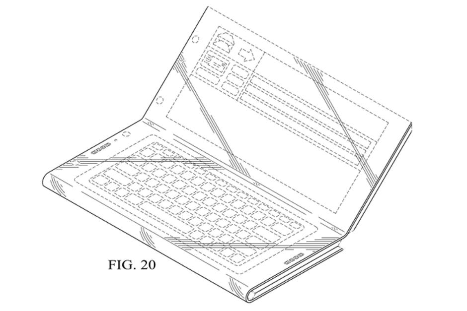 Intel, składany smartfon Intel, patent Intel, tablet Intel zginany smartfon intel