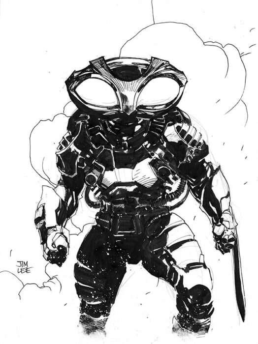 Czarna Manta na rysunku Jima Lee