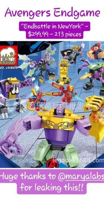 Zestaw LEGO ujawnia szczegóły ostatniej bitwy w Avengers: Endgame