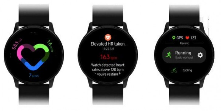 Galaxy Watch Active, samsung Galaxy Watch Active, zdjęcia Galaxy Watch Active, render Galaxy Watch Active, one ui Galaxy Watch Active