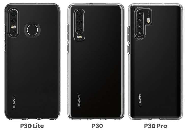 Huawei P30 Lite, wygląd Huawei P30 Lite, render Huawei P30 Lite, aparaty Huawei P30 Lite, design Huawei P30 Lite
