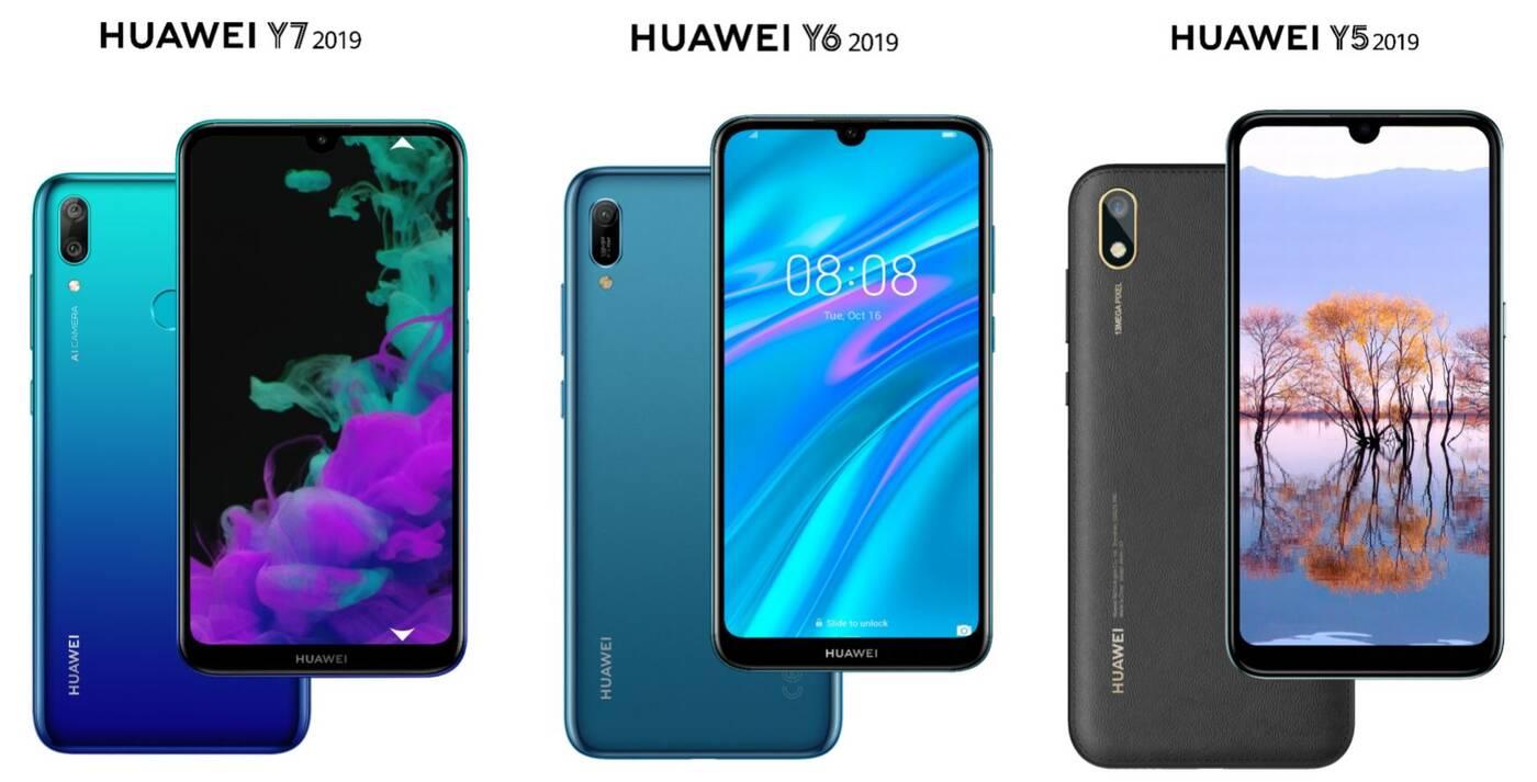 Huawei, Huawei Y7 2019, Huawei Y6 2019, Huawei Y5 2019