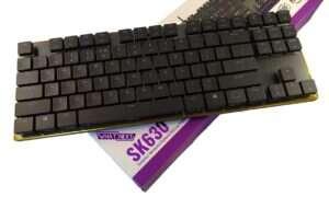 Test klawiatury SK630 z niskoprofilowymi przełącznikami