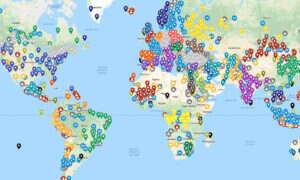Lokalizacje z serii Civilization nałożone na prawdziwą mapę