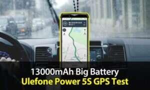 Ulefone Power 5S na filmie przedstawiającym test GPS