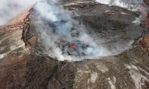 Erupcja wulkanu spowodowała powiększenie Hawajów