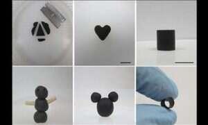 Grafen przypominający plastelinę można dowolnie formować