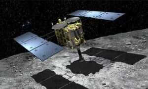 Zobaczcie jak statek kosmiczny wystrzeli pociski w kierunku asteroidy Ryugu