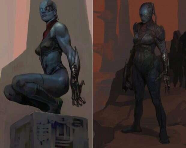 Alternatywny wygląd złoczyńców Marvela - Nebula