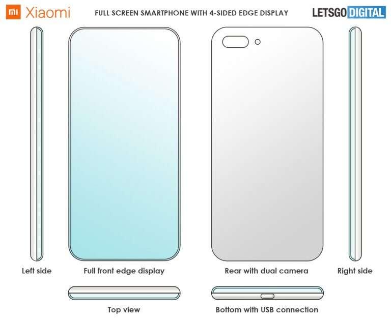 Xiaomi, patent Xiaomi, smartfon Xiaomi, ramki Xiaomi, zakrzywione ramki Xiaomi