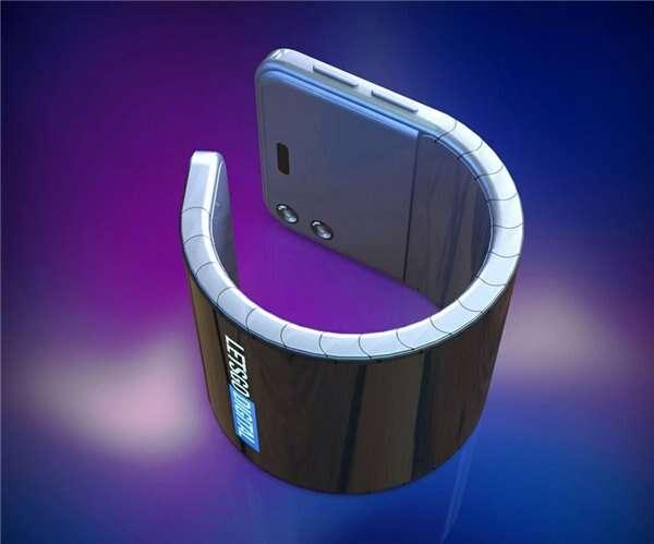 Samsung, składany smartfon Samsung, owijany wokół nadgarstka smartfon Samsung