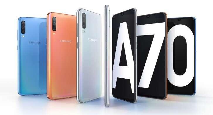 Galaxy A70, specyfikacja Galaxy A70, informacje Galaxy A70, zdjęcia Galaxy A70, parametry Galaxy A70, aparat Galaxy A70, wygląd Galaxy A70, design Galaxy A70